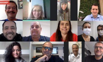 Imagem Da Captura De Tela De Todos Os Participantes Da Reunião Do Conselho Estratégico