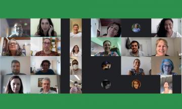 Captura De Tela Com A Foto Dos Participantes Da Reunião.