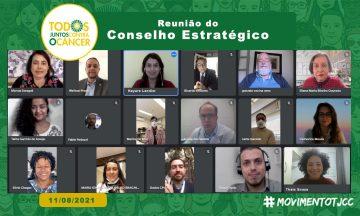 Imagem De Captura De Tela Dos Participantes Presentes Na Reunião Do Conselho Estratégico, Acerca Do Represamento Do Diagnóstico E Tratamento Do Câncer